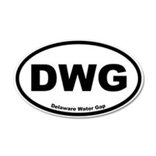 Delaware Water Gap 35x21 Oval Wall Peel