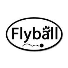 Flyball 20x12 Oval Wall Peel