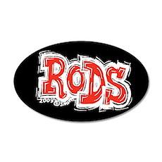 Rods 35x21 Oval Wall Peel