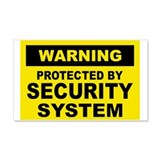 SECURITY SYSTEM SIGN 20x12 Wall Peel