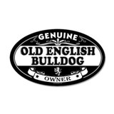OLD ENGLISH BULLDOG 35x21 Oval Wall Peel