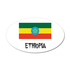 Ethiopia Flag 35x21 Oval Wall Peel