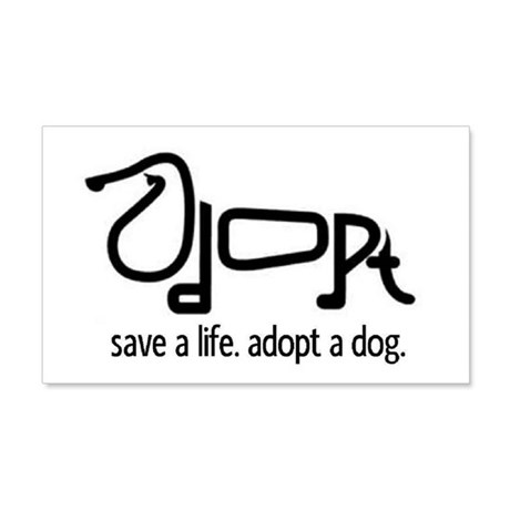Adopt a Dog 20x12 Wall Peel