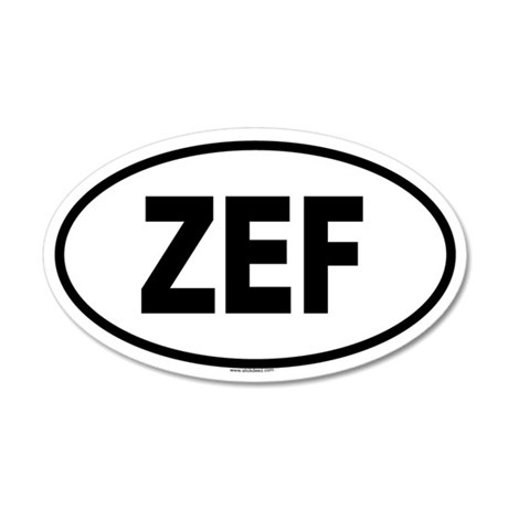 ZEF 20x12 Oval Wall Peel