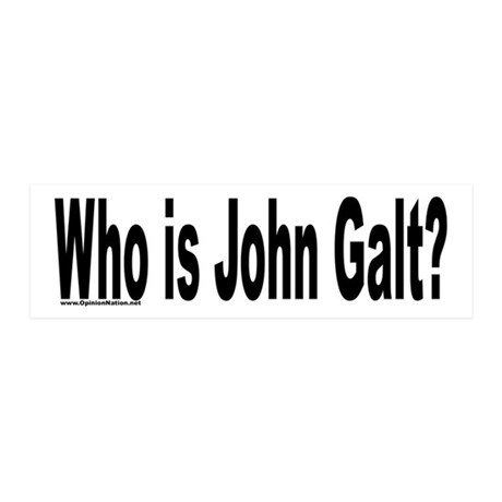 Who is John Galt? 20x6 Wall Peel