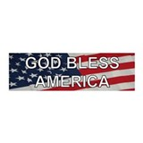 God Bless America 36x11 Wall Peel