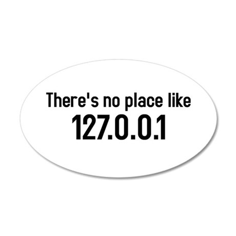 there's no place like 127.0.0.1 35x21 Oval Wall Pe