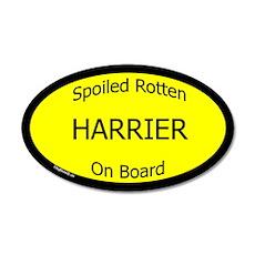 Spoiled Harrier On Board 35x21 Oval Wall Peel