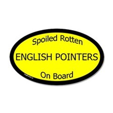 Spoiled English Pointers On Board Wall Decal