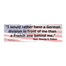 """Patton Quote"" 20x6 Wall Peel"