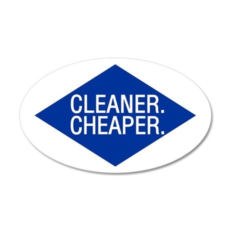 Cleaner / Cheaper 35x21 Oval Wall Peel