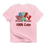 Canadian American 100% Cute Infant T-Shirt