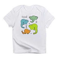 """E is for Elephant"" Creeper Infant T-Shirt"