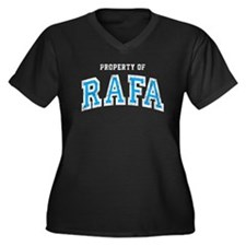 Property of Rafa Women's Plus Size V-Neck Dark T-S