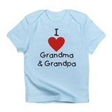 I Love Grandma & Grandpa Infant T-Shirt