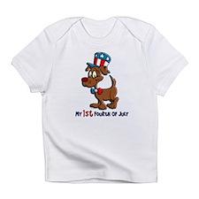 Patriotic Dog (1st Fourth Of July) Infant T-Shirt