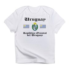 Uruguay Flag & Seal Creeper Infant T-Shirt