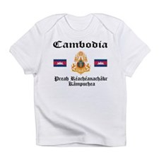 Cambodia Flag & Crest Creeper Infant T-Shirt