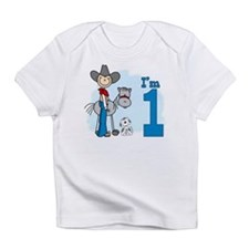 Stick Cowboy First Birthday Infant T-Shirt