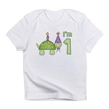 Little Turtle First Birthday Infant T-Shirt