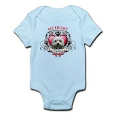 My Heart Belongs to a Maltese Infant Bodysuit