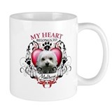 My Heart Belongs to a Maltese Coffee Mug