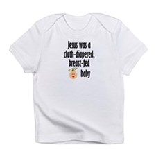 Jesus cloth-diapered breast-fed Creeper Infant T-S