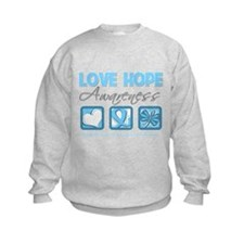 Prostate Cancer Love Hope Sweatshirt