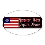 Papiere Bitte Oval Sticker