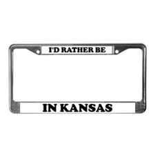 Rather be in Kansas License Plate Frame