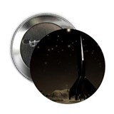 "Spacemen and Rocketship 2.25"" Button (100 pack)"