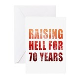 Raising Hell 70th Birthday Greeting Cards (Pk of 1
