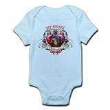 My Heart Belongs to a Rottweiler 2 Infant Bodysuit