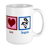 Peace Love Dragons Mug