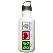 Peace Love Valentine Water Bottle