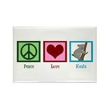 Peace Love Koala Rectangle Magnet