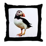 Puffin Wearing Shoes Throw Pillow