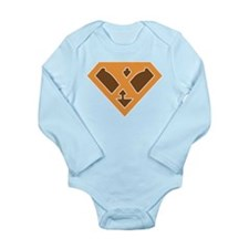 Super Grunge X Long Sleeve Infant Bodysuit