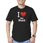 I Love My Band Men's Fitted T-Shirt (dark)