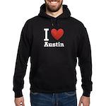 I Love Austin Hoodie (dark)