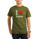 I Love Austin Organic Men's T-Shirt (dark)