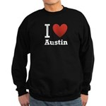 I Love Austin Sweatshirt (dark)