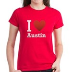 I Love Austin Women's Dark T-Shirt