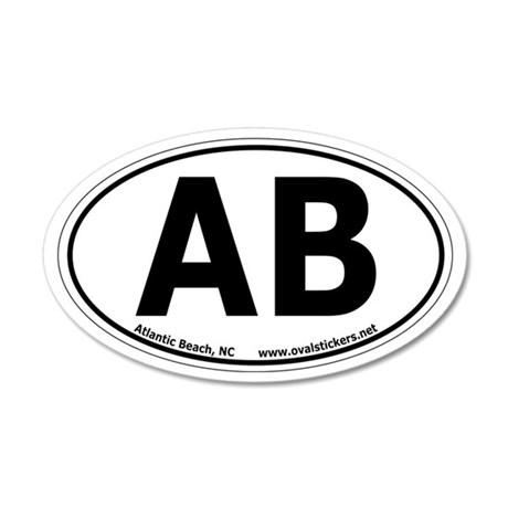Atlantic Beach, North Carolina Oval Car Sticker