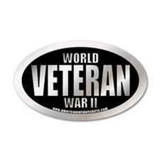 World War II Veteran 20x12 Oval Wall Peel