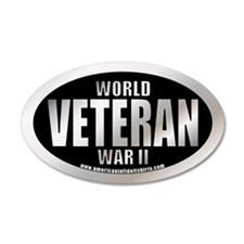 World War II Veteran 35x21 Oval Wall Peel