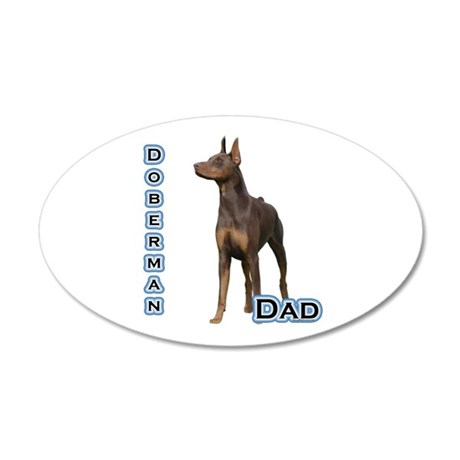 Dobie(rust) Dad4 35x21 Oval Wall Peel
