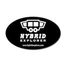 Hybrid Explorer Sticker (Black Oval)