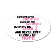 Fighters Survivors Taken 3 Pink 20x12 Oval Wall Pe