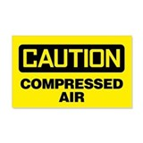 Caution: Compressed Air Sticker